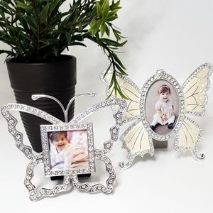 💖2 For 1💖Butterfly Rhinestones Picture Frames